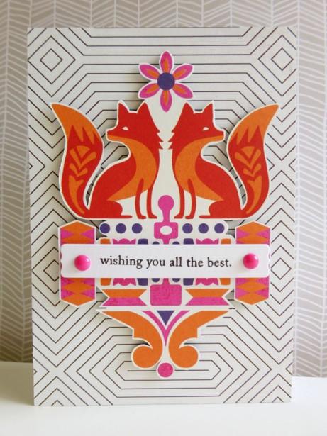Basic Grey - Grand Bazaar - Foxes card