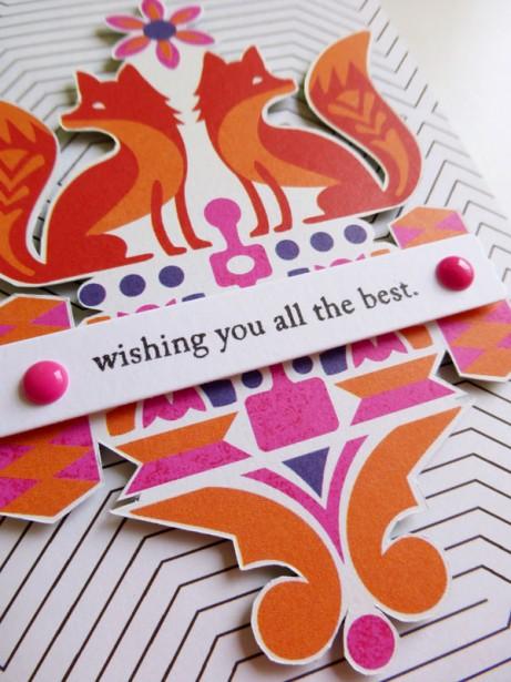 Basic Grey - Grand Bazaar - Foxes card - detail 2