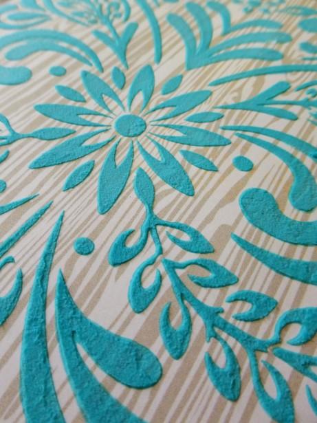 Basic Grey - Grand Bazaar - Leaf & Flourish stencil - texture detail