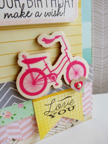 Crate Paper - Oh Darling card - detail 1