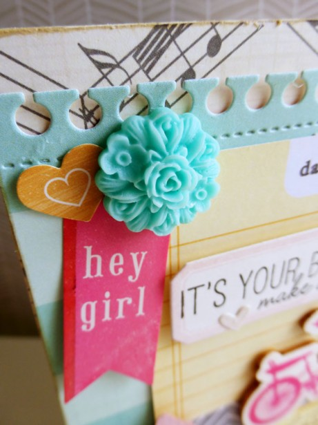 Crate Paper - Oh Darling card - detail 2