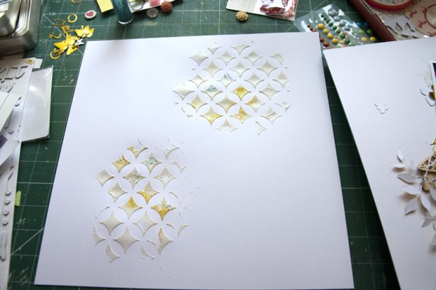 Stencilled Embossing Paste