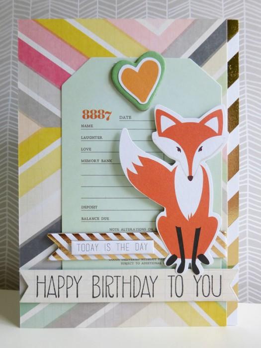 Foxy birthday greetings