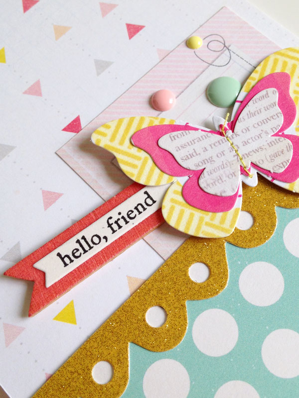 Hello friend card - detail