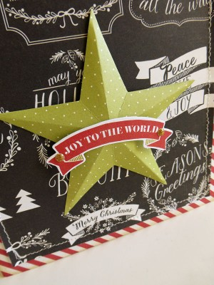 Joy to the World card - detail