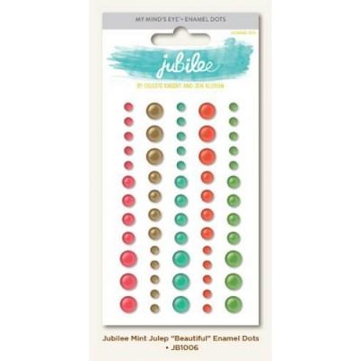 Mint Julep - Beautiful - enamel dots