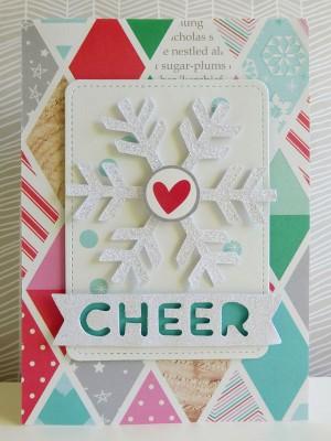 Snowflake cheer card