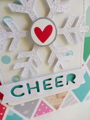 Snowflake cheer card - detail