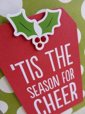 Tis the Season for Cheer card - detail