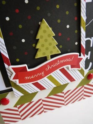 Simple Stories DIY Christmas - Christmas tree scene - detail
