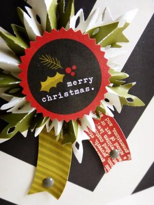 Simple Stories DIY Christmas - Snowflake rosette - detail