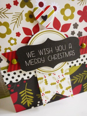 Simple Stories DIY Christmas - We wish you a merry Christmas - detail