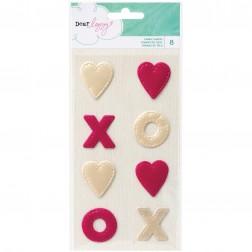 Large Hearts and XOX