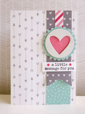 Pebbles - We Go Together - A little message for you card