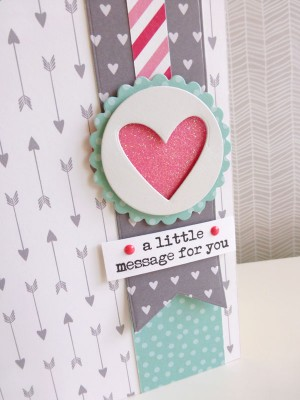 Pebbles - We Go Together - A little message for you card - detail
