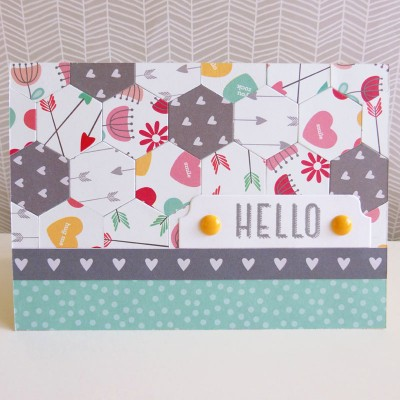 Pebbles - We Go Together - Hello card