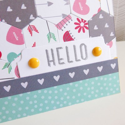 Pebbles - We Go Together - Hello card - detail