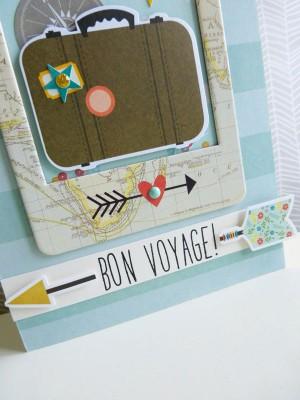 Bon voyage card - close-up