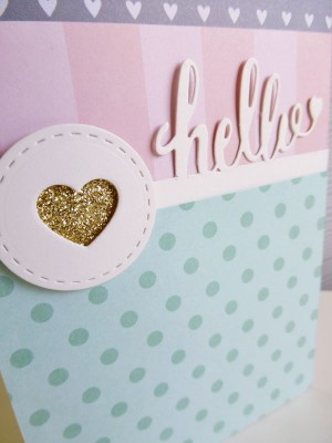 Jen Hadfield Cottage Living - Hello card - detail