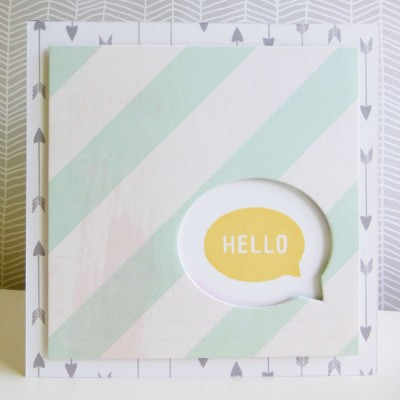Jen Hadfield Cottage Living - Hello notelet