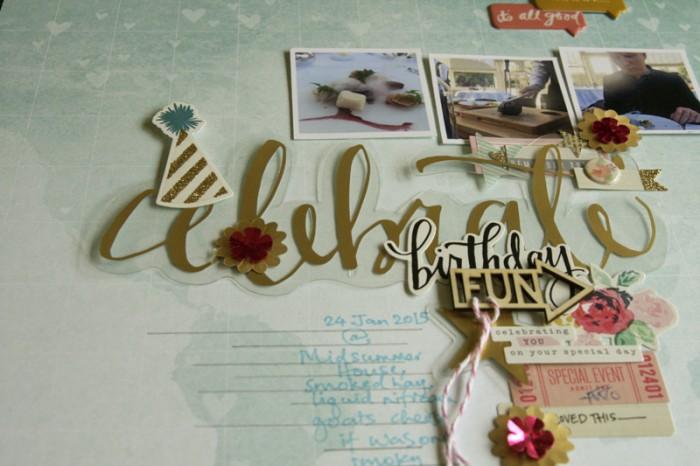 Birthday fun closeup