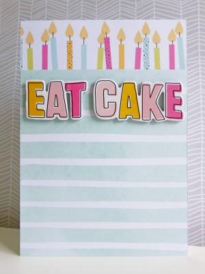 Dear Lizzy - Fine and Dandy - Eat cake card