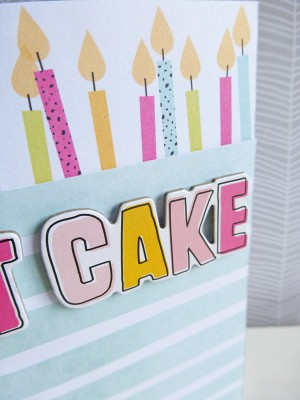 Dear Lizzy - Fine and Dandy - Eat cake card - detail
