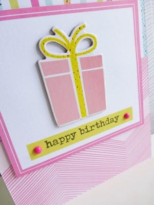 Dear Lizzy - Fine and Dandy - Happy birthday card - detail