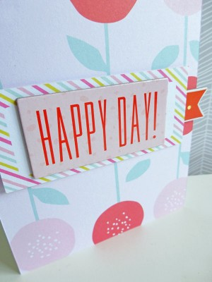 Dear Lizzy - Fine and Dandy - Happy day card - detail
