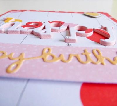 Dear Lizzy - Fine and Dandy - Happy happy birthday card - detail 2