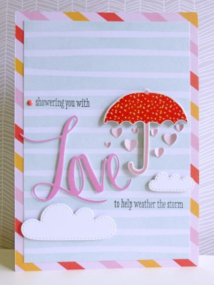 Dear Lizzy - Fine and Dandy - Showering you with love card