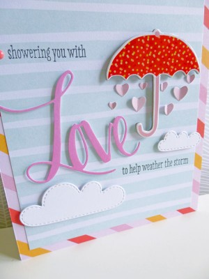 Dear Lizzy - Fine and Dandy - Showering you with love card - detail