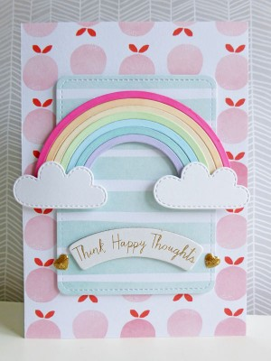 Dear Lizzy - Fine and Dandy - Think happy thoughts card