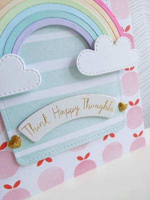 Dear Lizzy - Fine and Dandy - Think happy thoughts card - detail