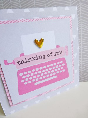 Dear Lizzy - Fine and Dandy - Thinking of you notelet - detail