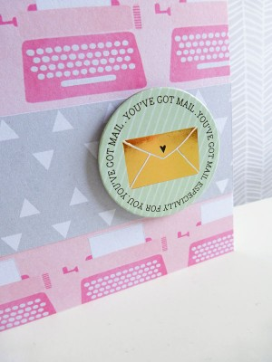 Dear Lizzy - Fine and Dandy - You've got mail notelet - detail