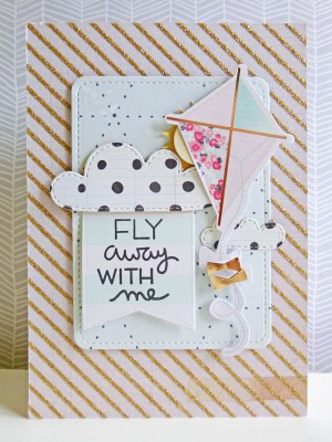 Crate Paper standouts - Fly away with me card