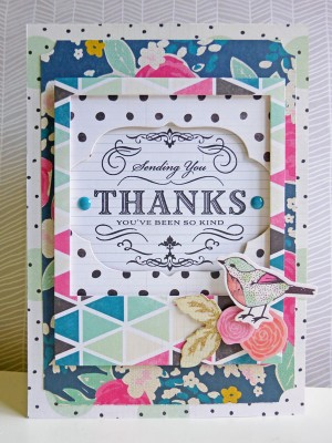 Crate Paper standouts - Thank you card