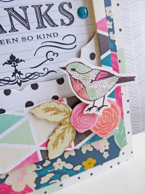 Crate Paper standouts - Thank you card - detail
