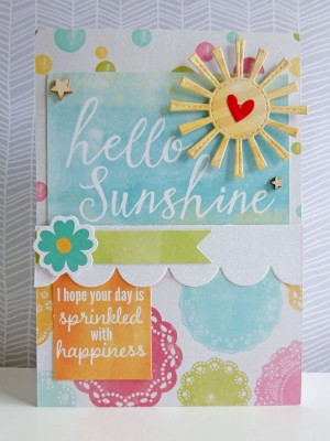 Jillibean Soup Summer Red Raspberry - Hello Sunshine card