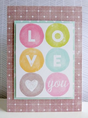 Jillibean Soup Summer Red Raspberry - Love You card