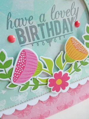Jillibean Soup Summer Red Raspberry - Lovely Birthday card - detail 1