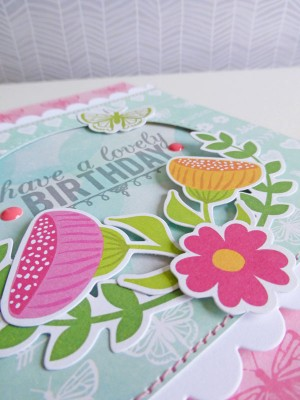 Jillibean Soup Summer Red Raspberry - Lovely Birthday card - detail 2