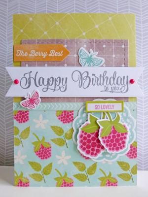 Jillibean Soup Summer Red Raspberry - The Berry Best Birthday card