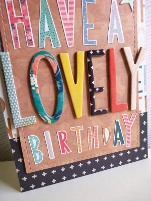 Crate Paper Wonder - Have a Lovely Birthday card - detail