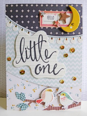 Crate Paper Wonder - Hello Little One card