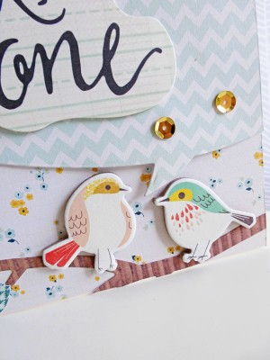 Crate Paper Wonder - Hello Little One card - detail