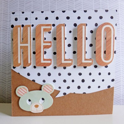 Crate Paper Wonder - Hello card