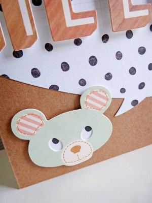 Crate Paper Wonder - Hello card - detail