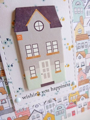 Crate Paper Wonder - New Home card - detail